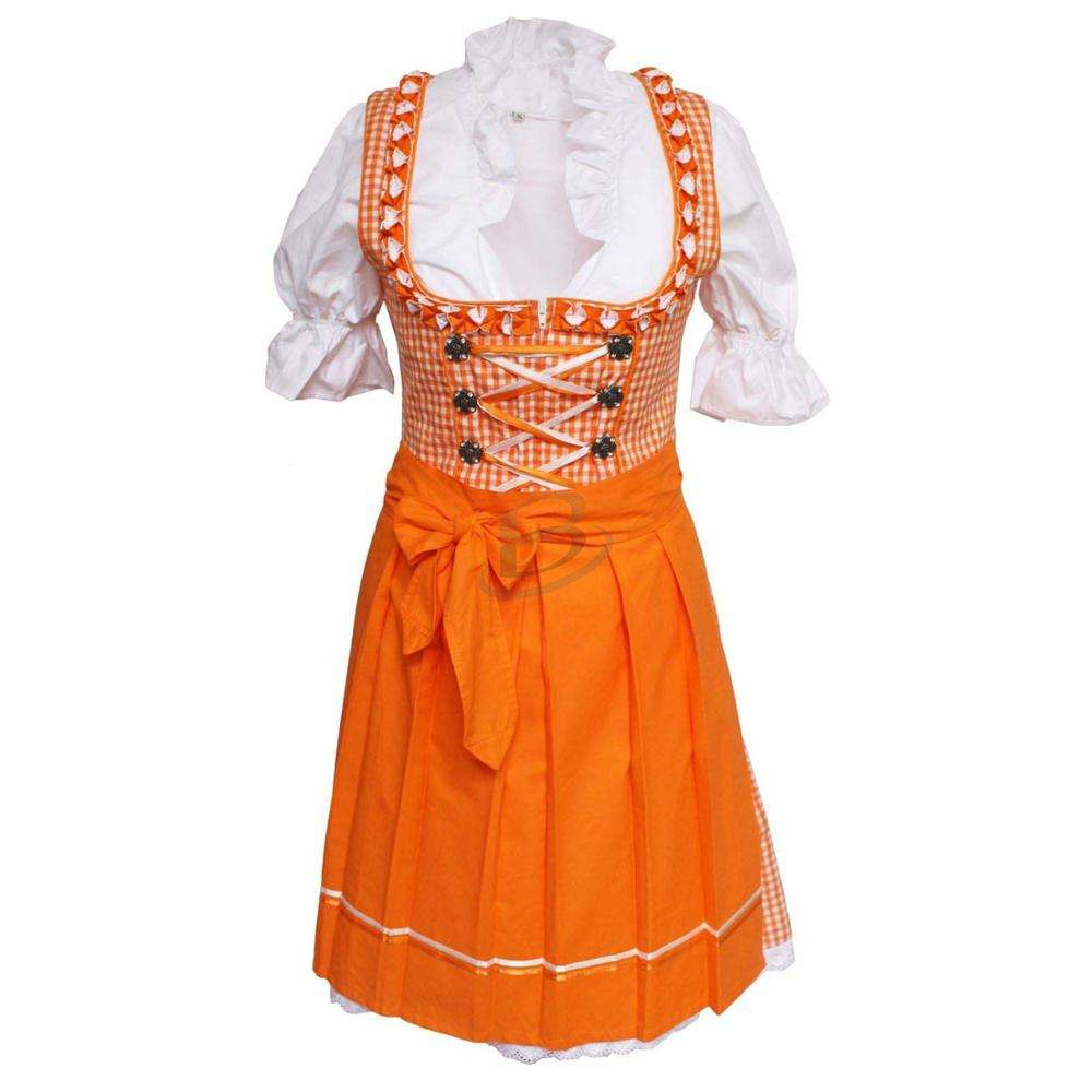 Bright Women's Oktoberfest Costume Bavarian Beer Girl Drindl Tavern Maid Dress (Oktoberfest Dress)