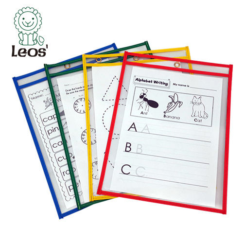 Dry Erase Pockets Classroom School Student Reusable Dry Erase Pockets