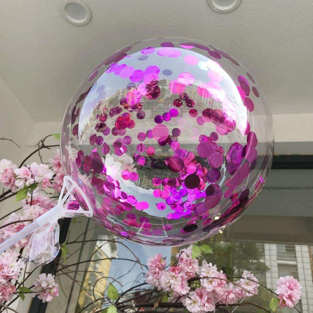 Mix 36 inch transparent round balloons bobo balloon with confetti 2019 new bobo ballon