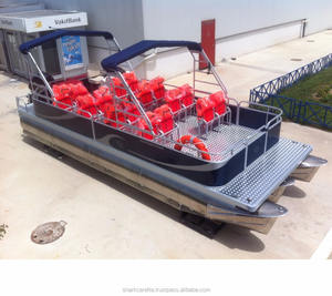 passenger catamaran ferry boat 8M carrettapontoon SC8-CP Factory Supplier - Made in Turkey