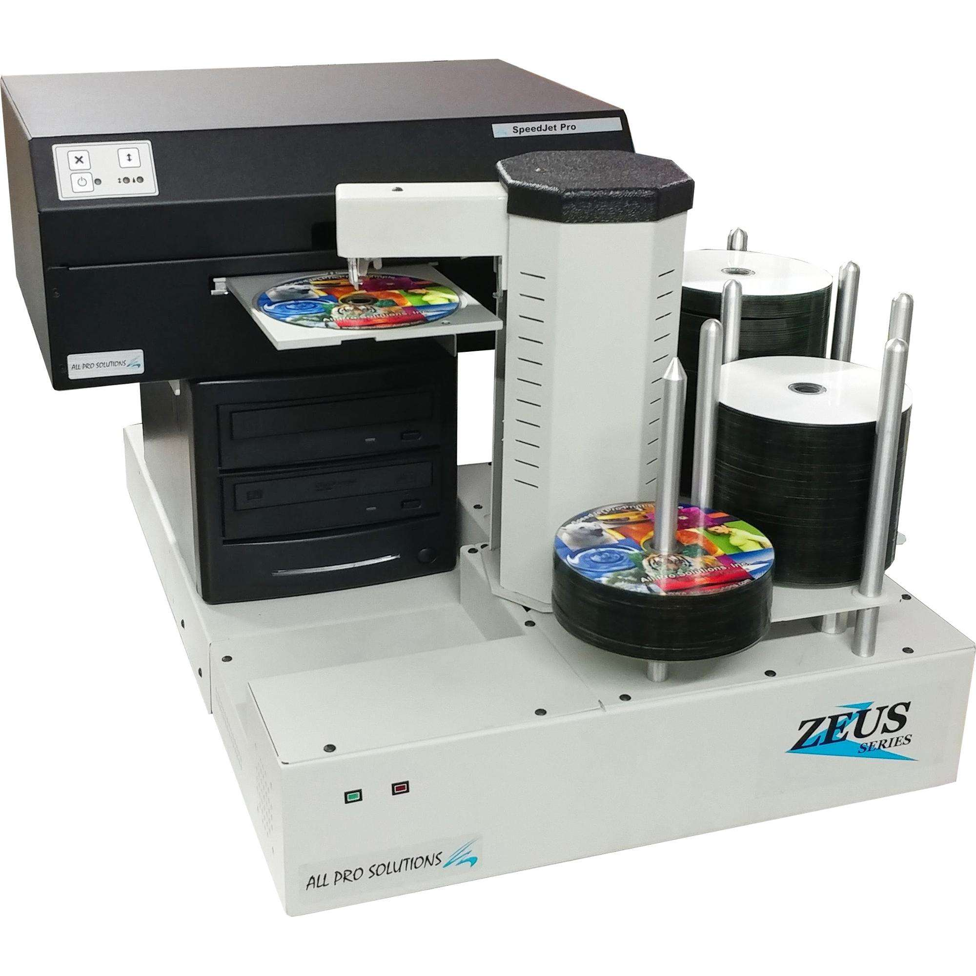Zeus 2H Automated CD DVD Publisher 2-drive w/ Internal Computer, SpeedJet Inkjet Printer & 220 Disc Capacity