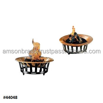 Round Shaped Metal Pure Copper Outdoor Fire Pit Bowl Garden Heater Wood Burning Copper Fire Pit