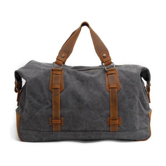Stylish mens travel heavy duty cotton canvas duffle bags