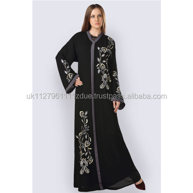 New Design Embroidery Work Handwork Women Abaya for Sale