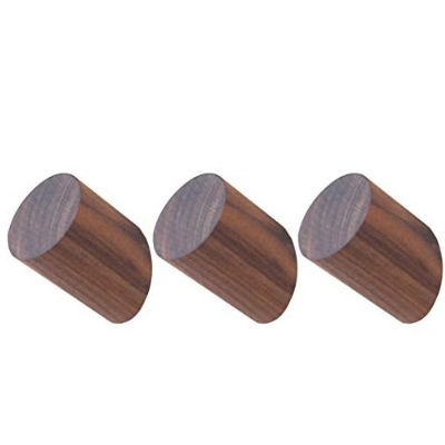 Wooden Coat Hooks Wall Mounted Single Wall Hook Rack Decorative