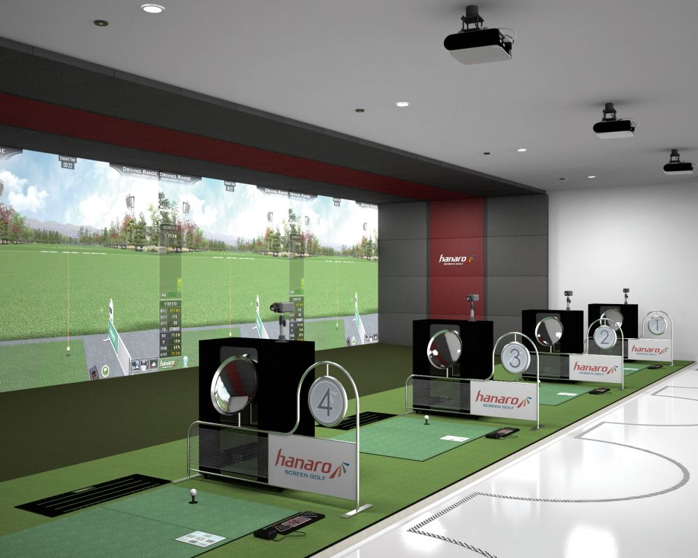 3D Volle HD Hanaro Vision Plus HDR (Bildschirm Golf Simulator)