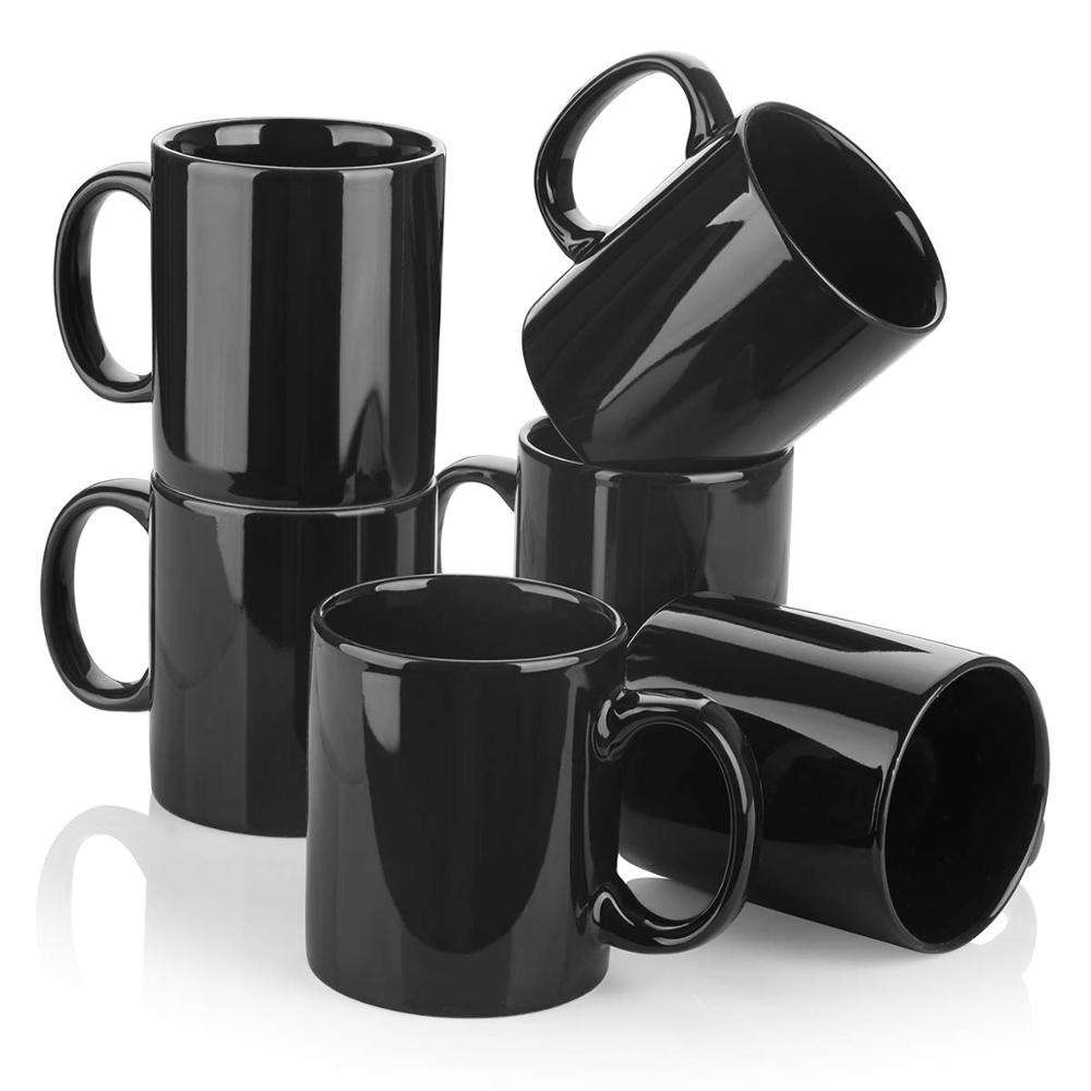 Porcelain Coffee Black Mug For Tea Cocoa Or Diy