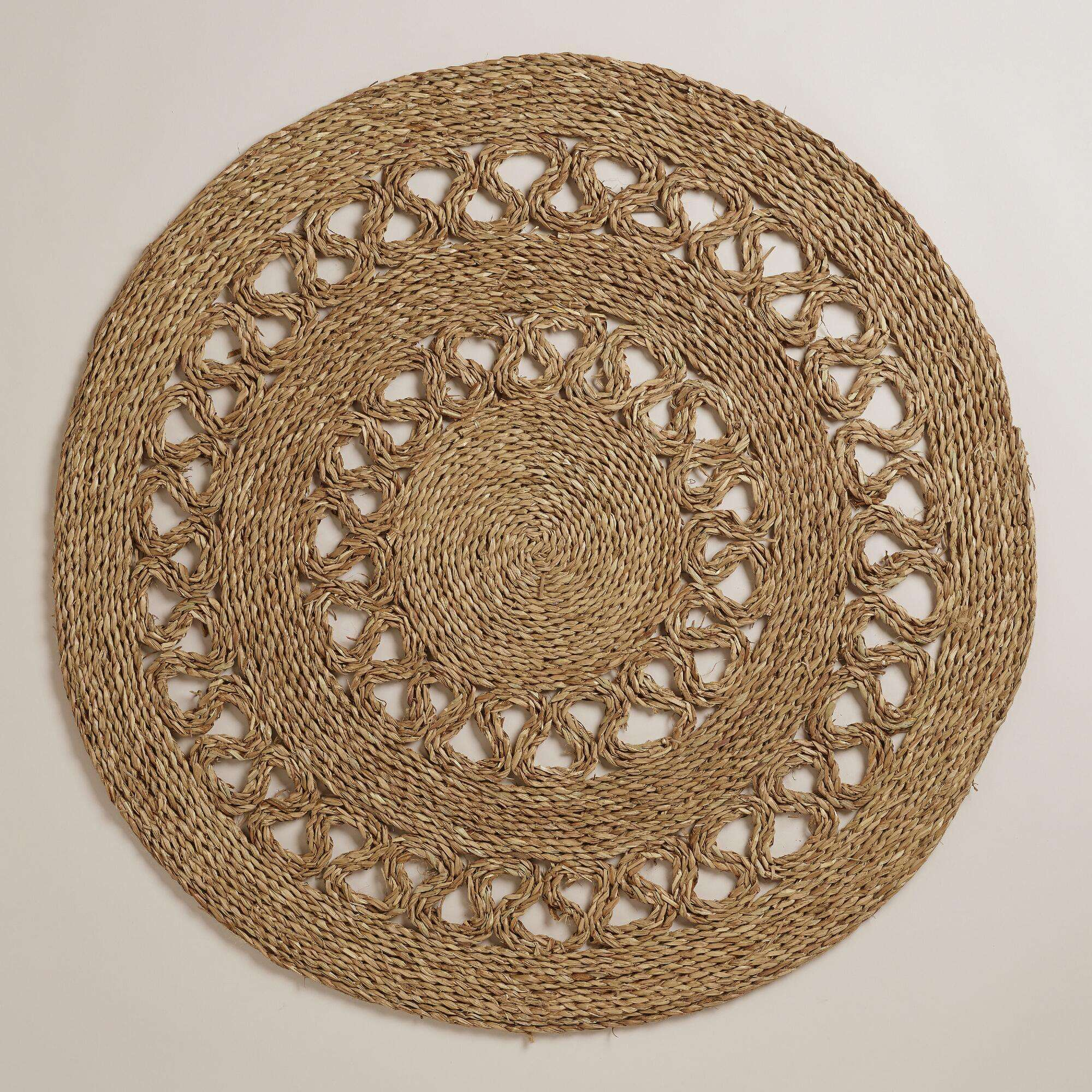 Round Vietnam seagrass carpet