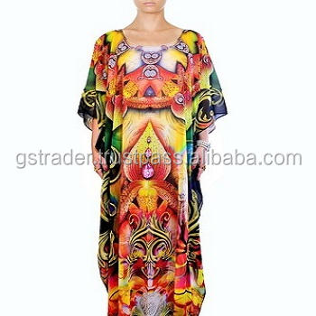 Beautiful and unique colorful jalabiya for ladies, party wear kaftan dress,Manufacturer & Exporters of women long kaftan