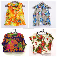 Crazy print original vintage 80s-90s Blouse Wholesale from Bangkok Thailand