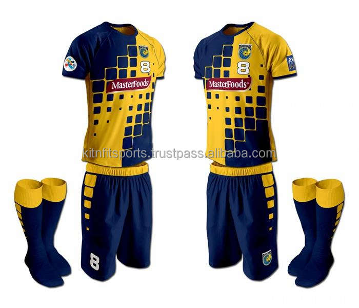 Hot football Jersey Custom Sublimated Sport Soccer Uniform