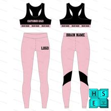 women fitness wear legging sports bra set running gym workout clothes sweat soft slim fit