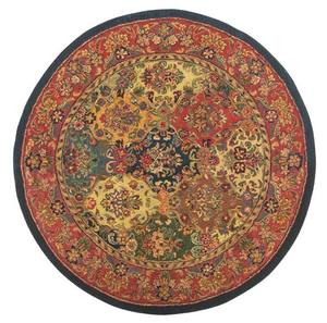 new zealand wool hand-tuft traditional indian round shape wool carpet