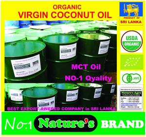 ORGANIC VIRGIN COCONUT OIL - from Sri lanka- ISO 22000 CERTIFICATED FACTORY