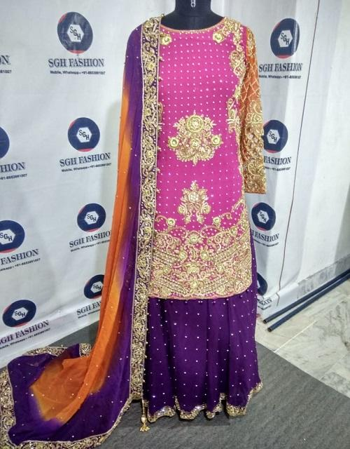 Pakistani Designer lehanga dress for mehendi