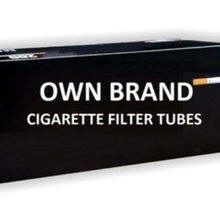 Cigarette Filter Tubes - Own Brand Production - Private Brand - affordable prices!