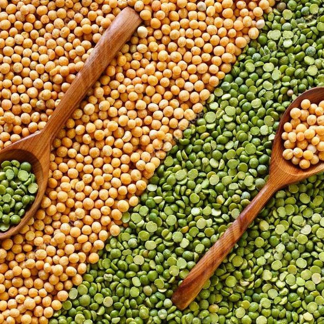 Argentine green or yellow peas