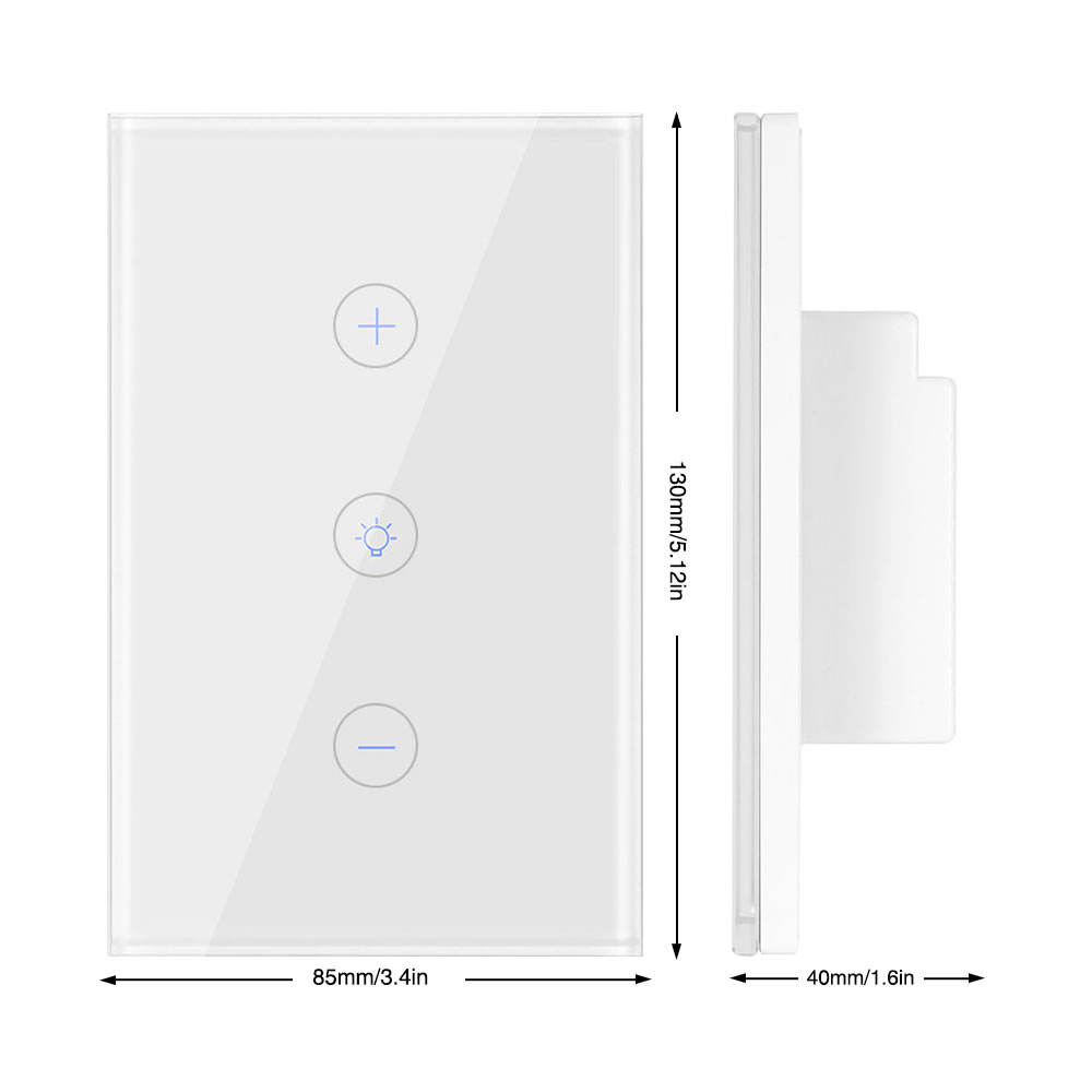 Smart Light Dimmer US Standard Wifi Switch Touch Control Work with Alexa Google Assistant IFTTT