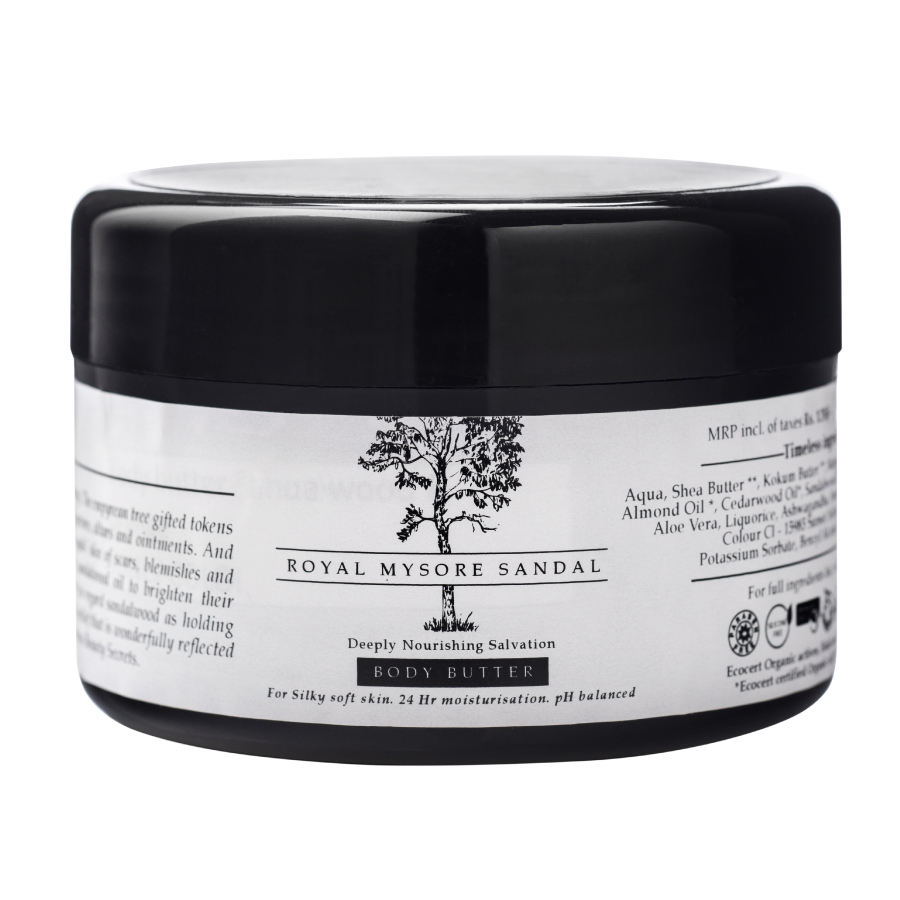 Organic Royal Mysore Sandal Deeply NourishingMoisturising Body Butter