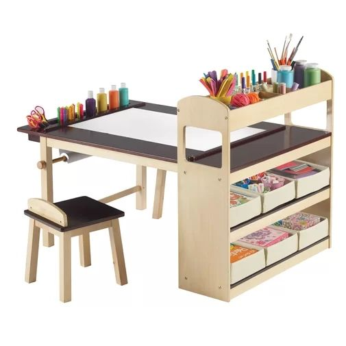 No.2502 Factory Hot Selling Kids 3 Piece Arts and Crafts Table and Stool Set