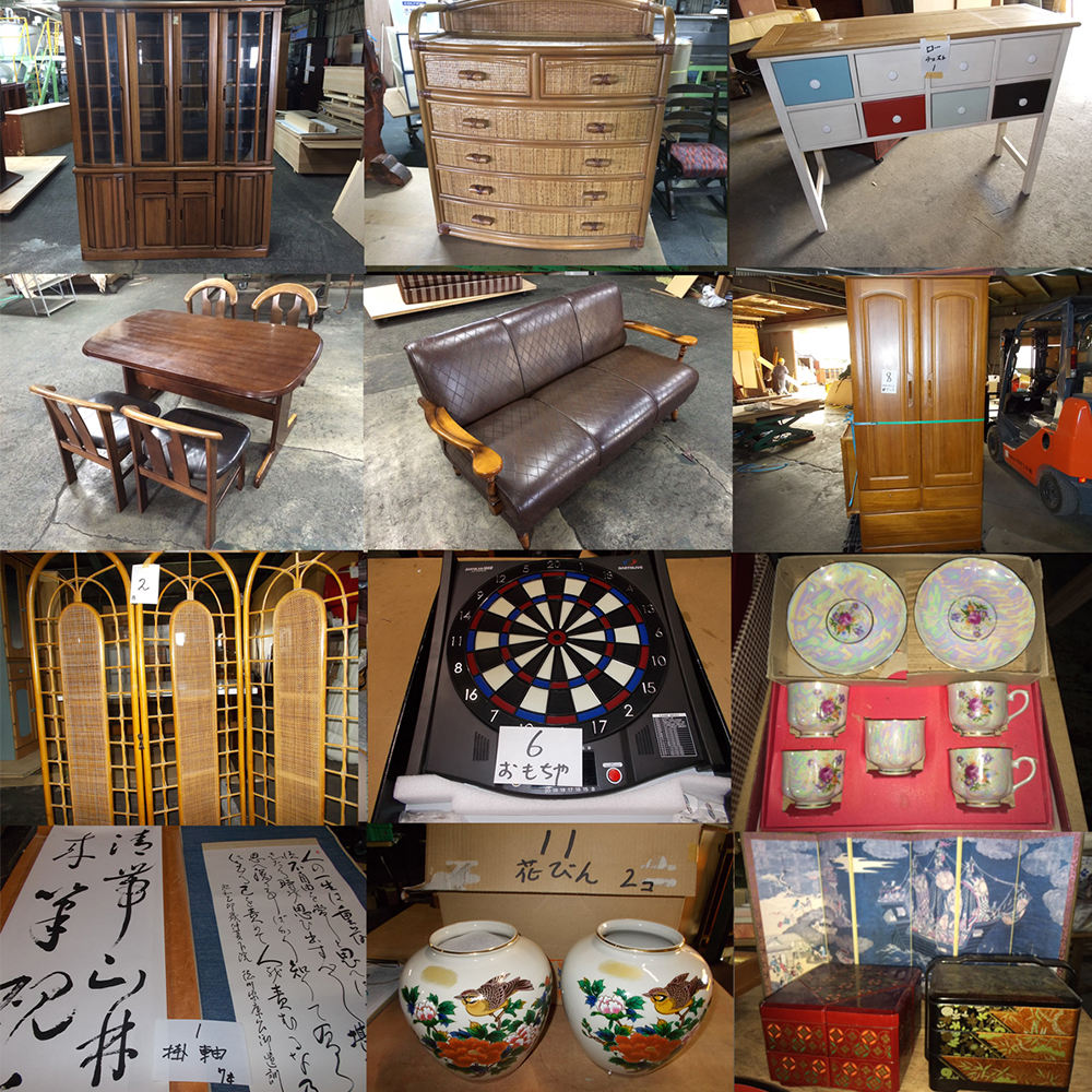 Used furniture and miscellaneous goods made in Japan
