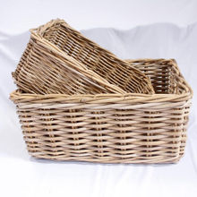 Laundry Basket/Toy Storage set of 2 Natural rattan