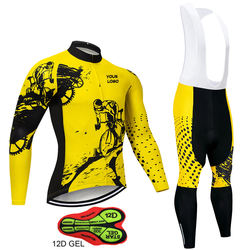 Men Winter Thermal Cycling Clothing 2019 New Long Sleeve Cycling Jersey Set Ropa Ciclismo MTB Bike Maillot Bicycle Wear