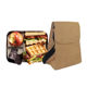 Kraft paper insulated school bag cooler reusable doctor who lunch bag