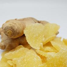 Dried dehydrated ginger slices with cryslized sugar Thailand