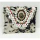 Handmade Leather Goat Fur Clutch Bag With Indian Hand Embroidery Codi Sunkh Work