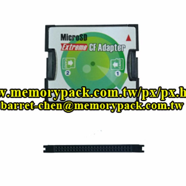 Memorypack Extreme CF Card Adapter 2 microSD to Type I CompactFlash