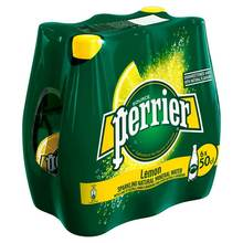 Offer - Perrier Lemon Sparkling Mineral Water 6 x 500ml
