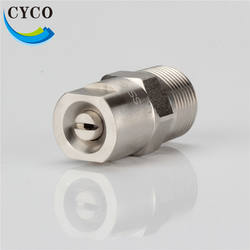 0 Degree to 110 Degree Flat Fan Stainless Steel SS V Jet Spray Nozzles