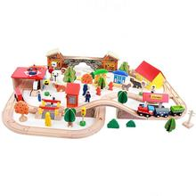 89piece Wooden Train Toy Railway for Wholesale