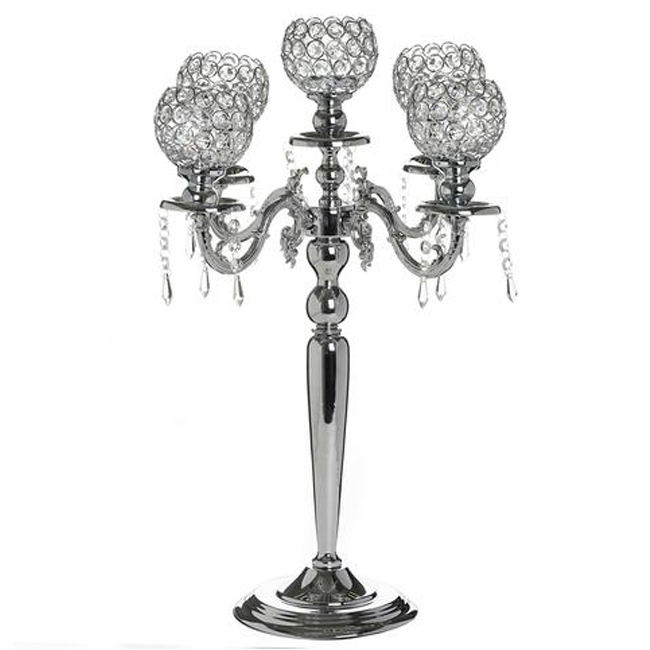Event & Party Supplies Decorative Crystal Candelabra Centerpiece