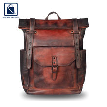 High Quality Stylish Luxurious Men Genuine Leather Backpack Bag