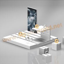 earring display with led /acrylic jewelry display stand