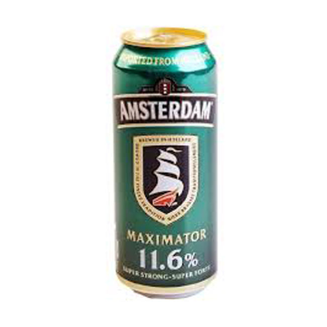 11.6% Amsterdam Maximator Beer Can