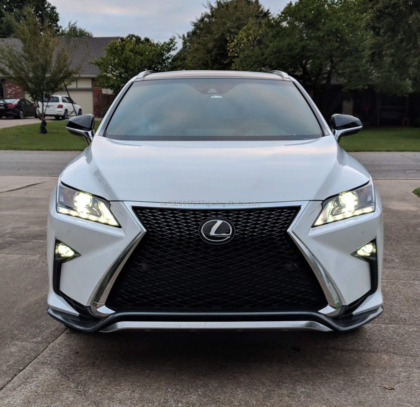 Rear Bumper Protector Trim for 2016-2018 Lexus RX350 RX450h RX200T Steel