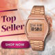 [ AUTHENTIC CASIO WATCH ] CASIO VINTAGE B640WC SERIES * ROSE GOLD Stainless Steel Bracelet Watch