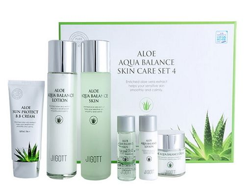 Jigott Aloe Aqua Balance Skin Care 4pc Set