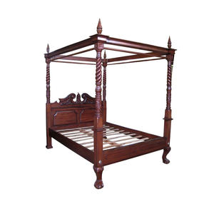Mebel Klasik Mahoni Empat Poster Canopy Bed Antique Reproduction Furniture Mahoni Indonesia