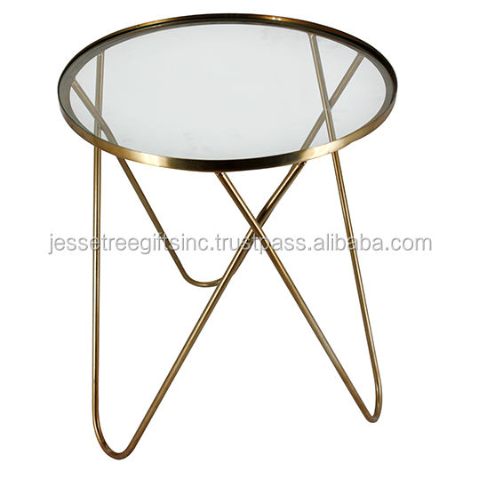 Iron Rod Glass Table