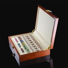 Luxury Gift 20 pairs Capacity Cufflinks Box High Quality Painted Wooden Boxes 240*180*55mm