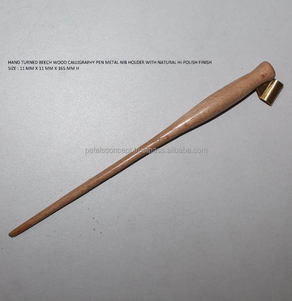 Сделать в Индии стороны повернулся металлических СИБ держатель Деревянный каллиграфия пера
