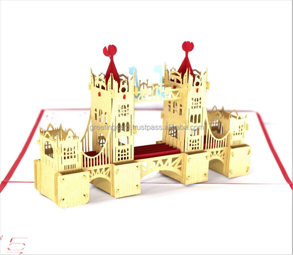Tower Bridge London popup 3D card birthday thank you card present