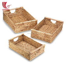 Hometrend Water Hyacinth basket for serving, woven tray, straw tray wholesale