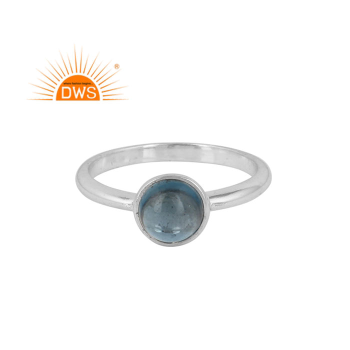 London Blue Topaz Gemstone 제 링 925 Sterling Silver Women Jewelry 링 Supplier