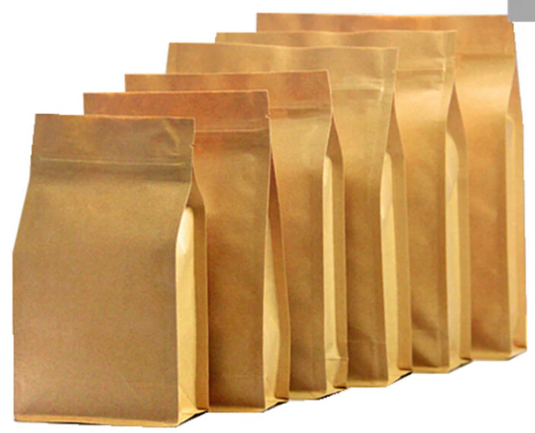 Wholesale Custom Logo Side Gusset Foil Lined Kraft Paper Bag For Coffee Bean Tea Retail Packaging