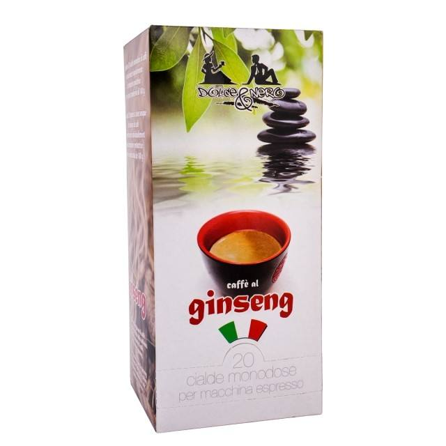 ITALIAN COFFEE PODS GINSENG - 20 PODS BOX - GROUND COFFEE PODS